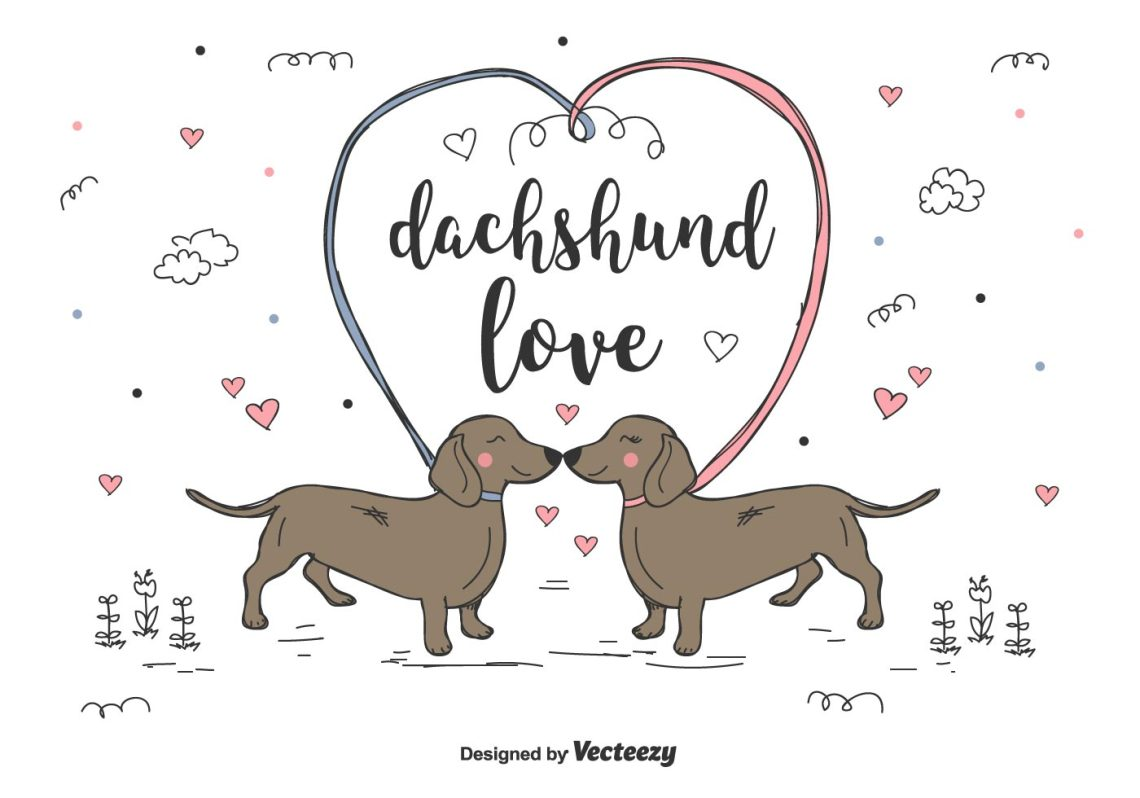 Download Dachshund Love Vector - Download Free Vectors, Clipart ...