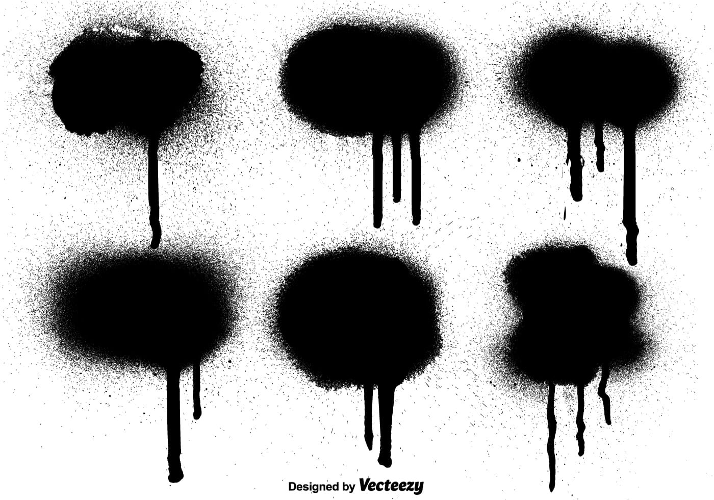 Vector Graffiti Black Paint Drips Elements Download Free