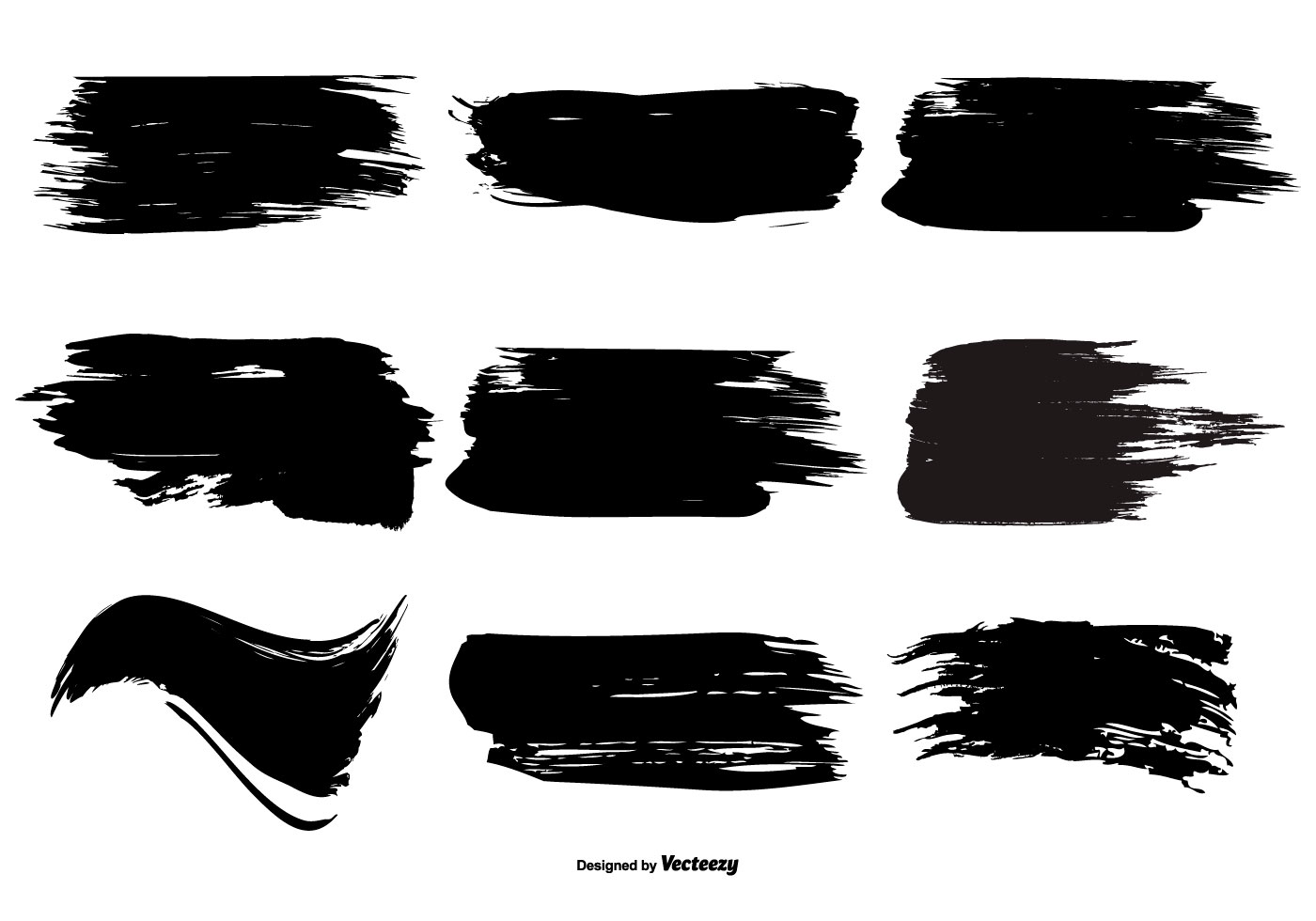 Paint Brush Stroke Shape Collection