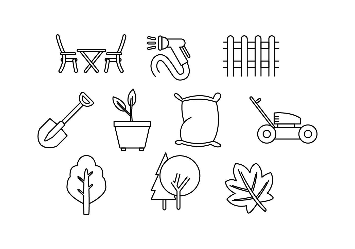 Free Lawn Care Line Icon Vector
