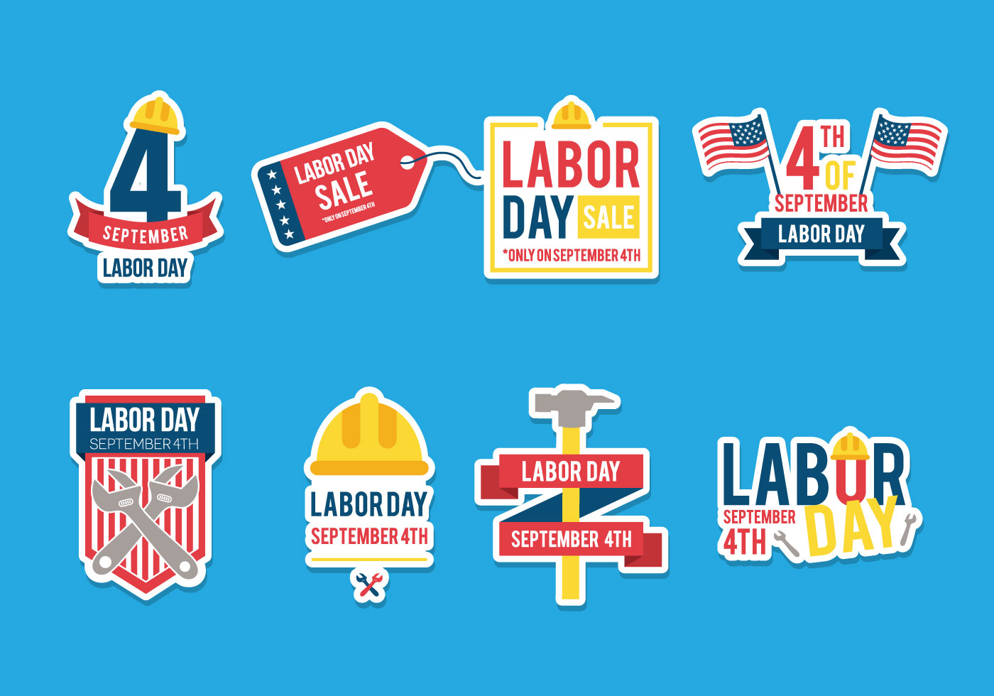 Labor Day Vectors