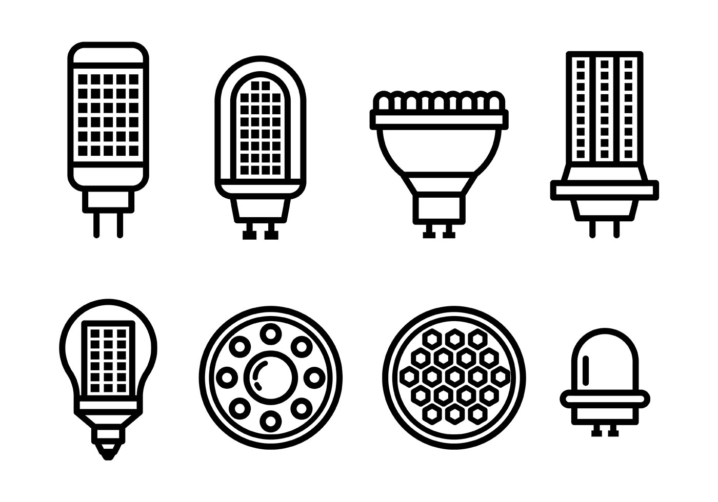 Led Lights Vector Icons