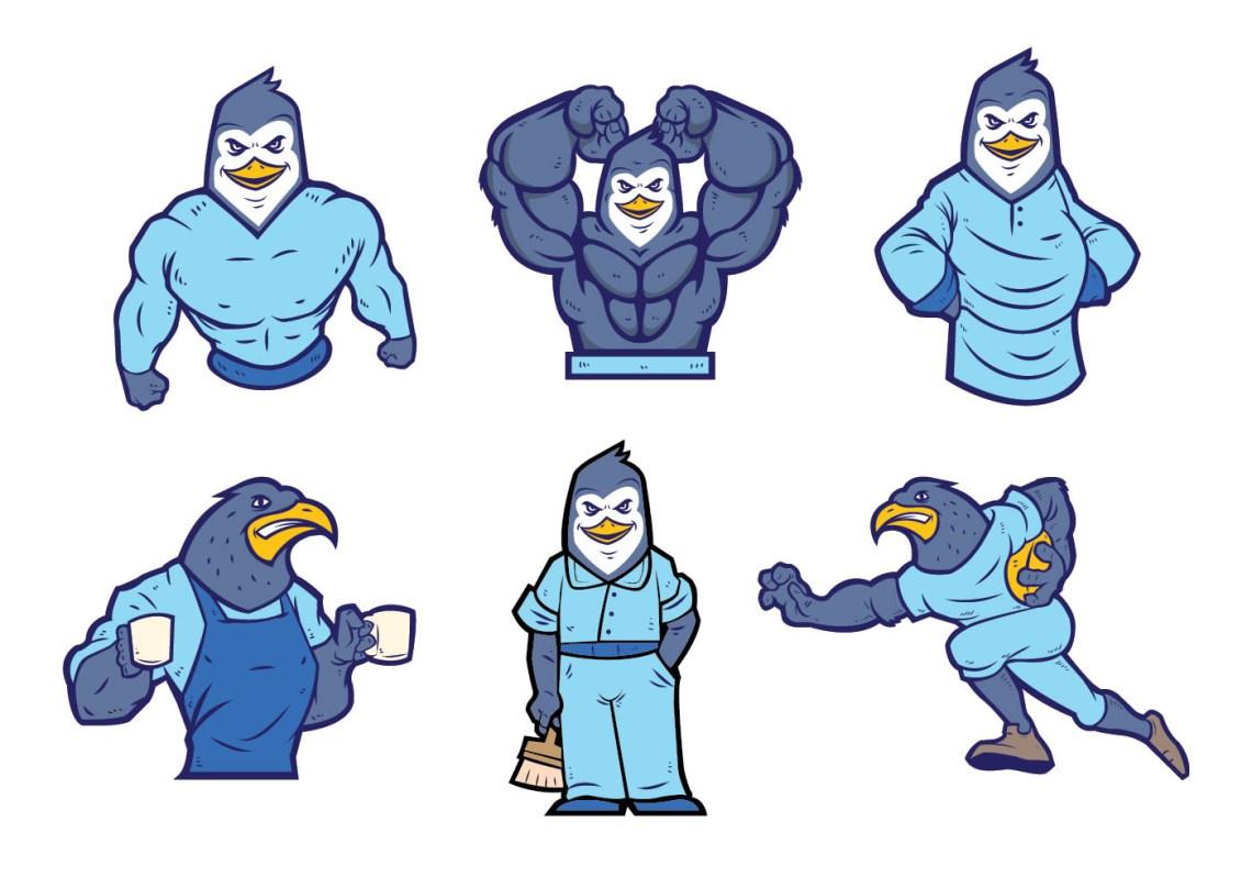 Download Free Penguins Mascot Vector - Download Free Vectors ...