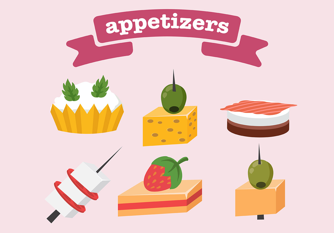Appetizers Icon Vector Download Free Vector Art Stock
