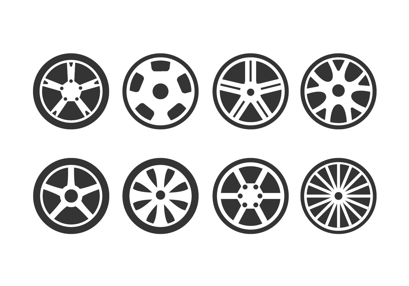 Alloy Wheels Vector Icon