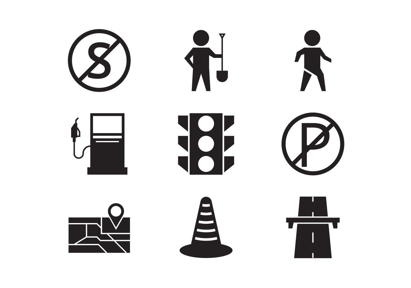 Toll Icon Vector Collection