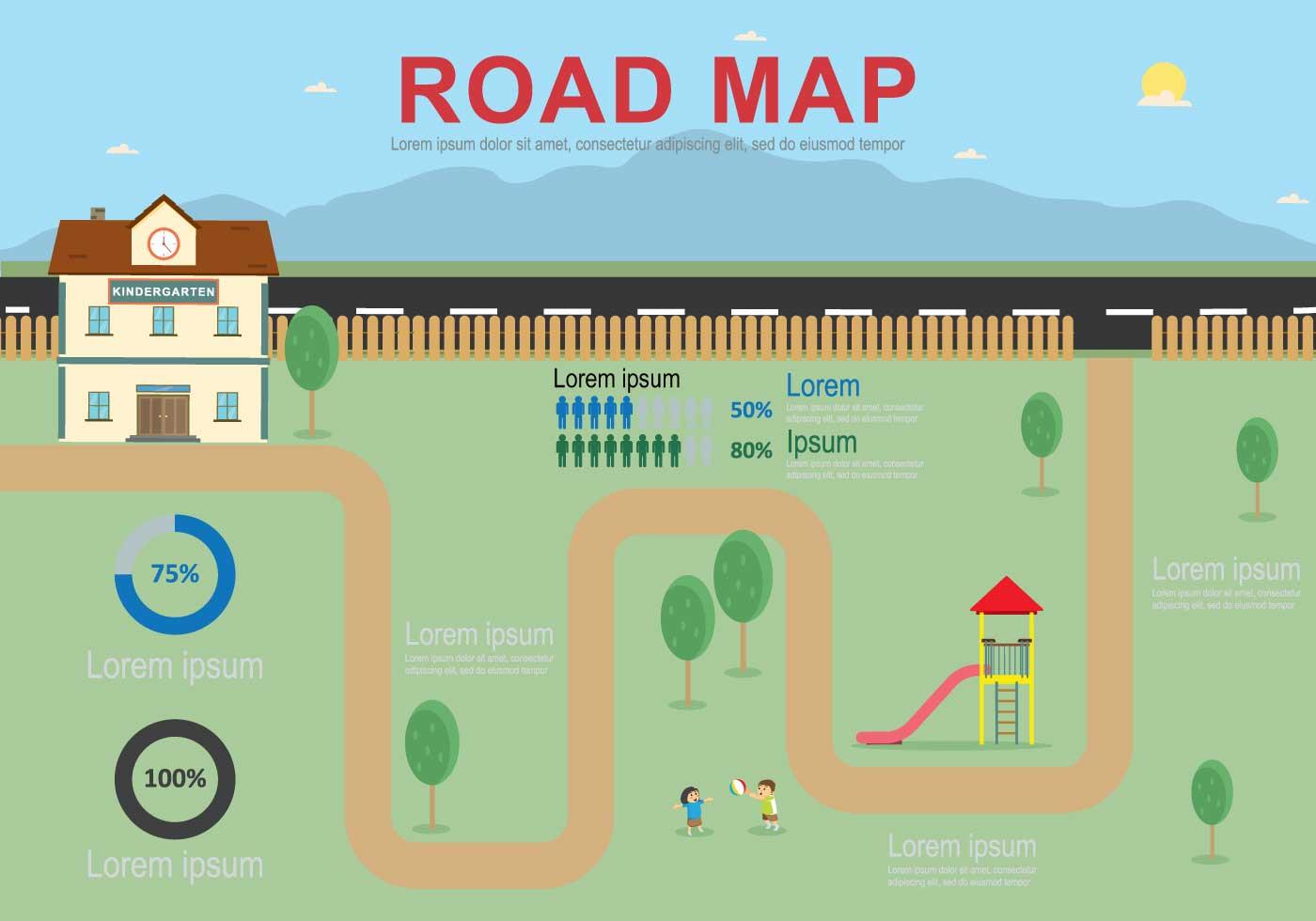 Free Education Roadmap Illustration
