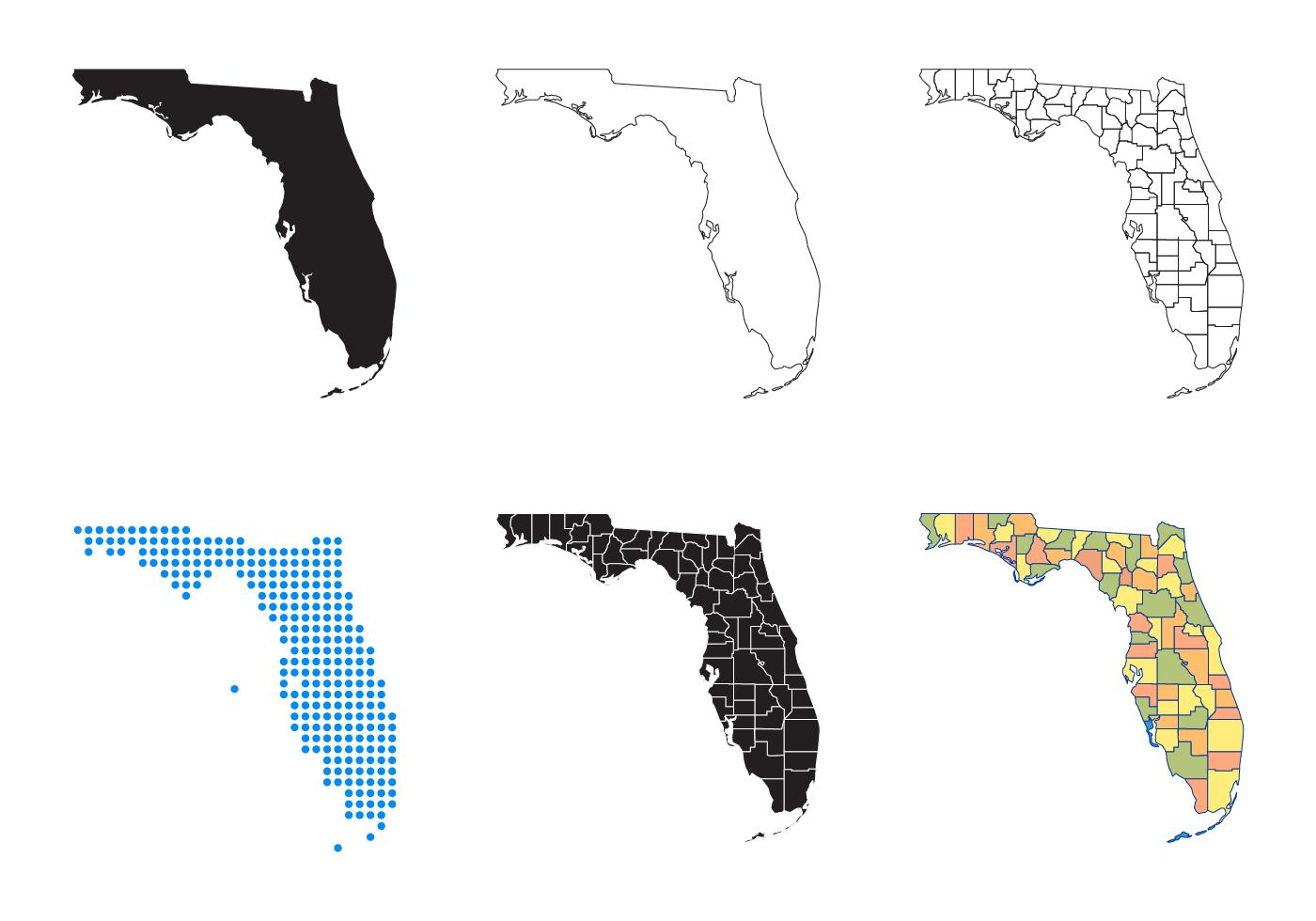 Florida Map Vector