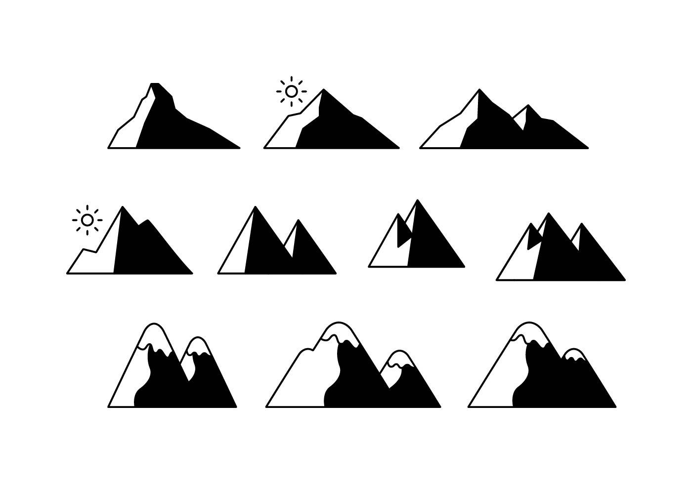 Free Mountains Icon Vector
