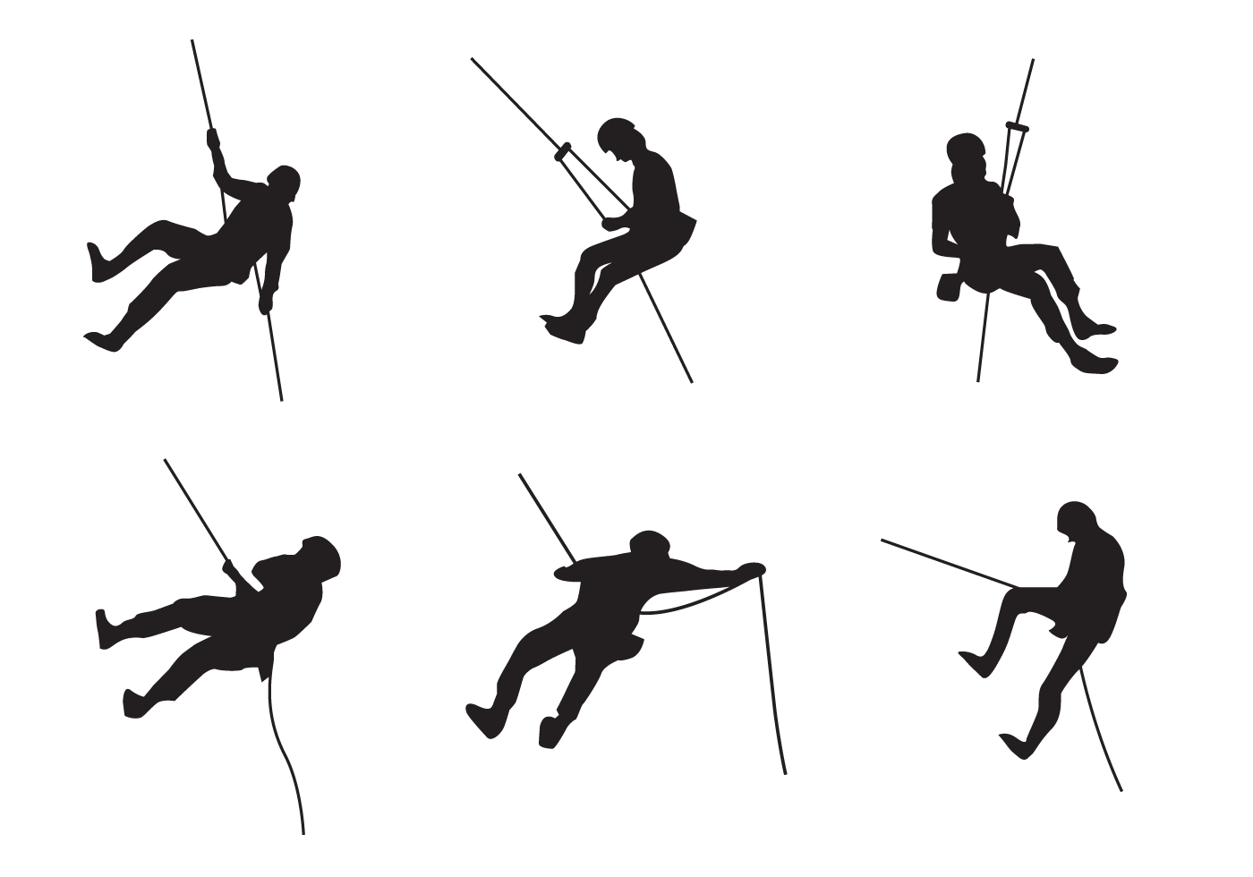 Rappel Silhouette Vector