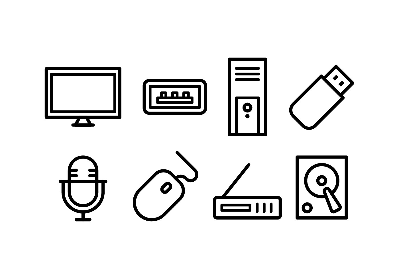 Computer Accessories Icon Pack