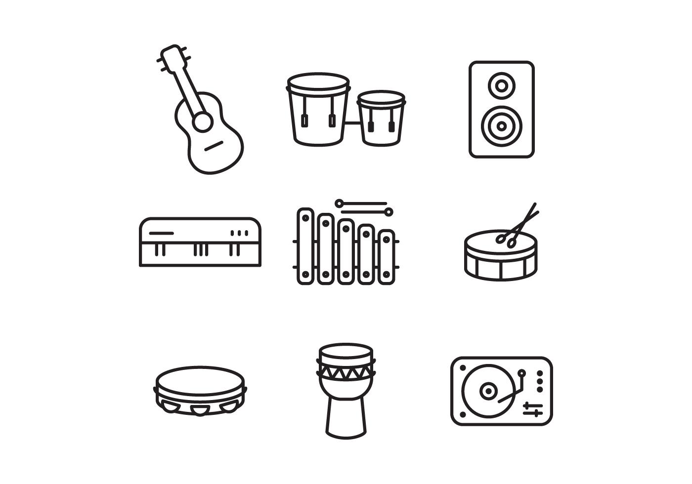 Instrument Icon Vectors