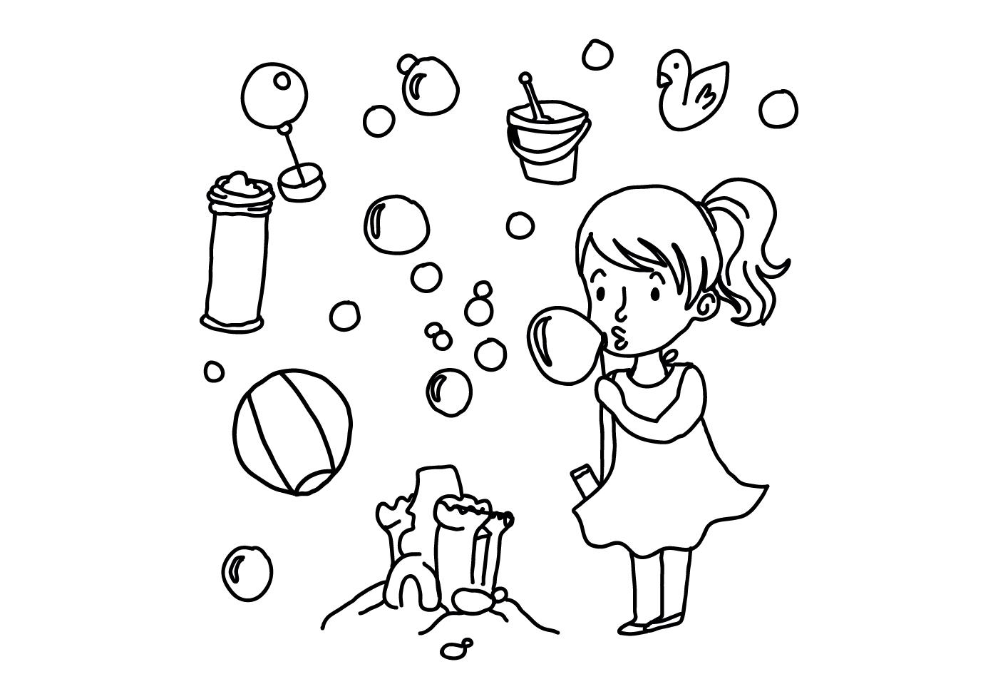 Bubbles And Toy Doodle Vectors For Children