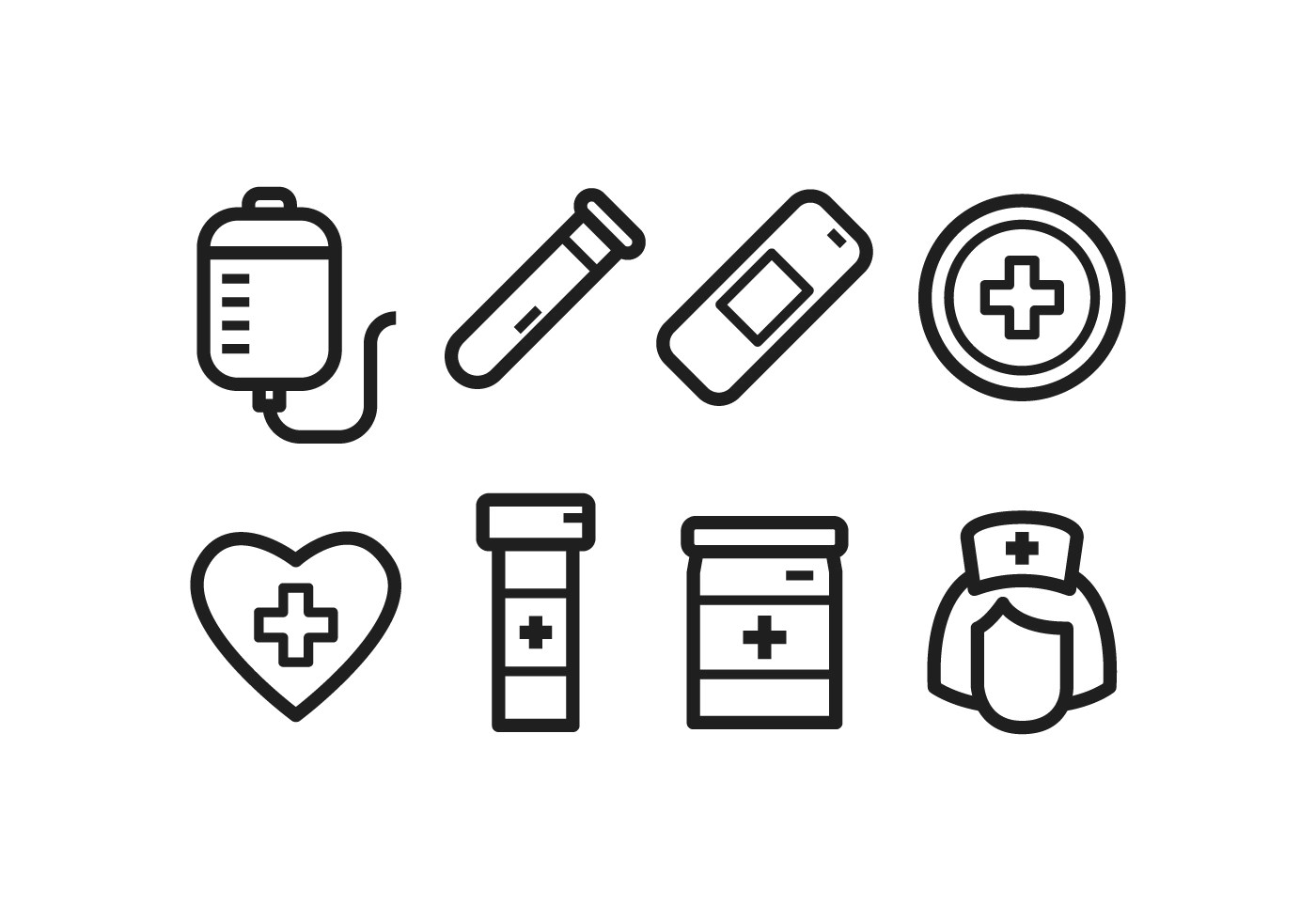 Gratis Ziekenhuis Icon Set