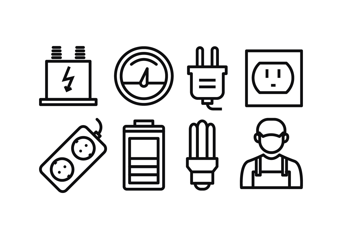 Electricity Icon Free Vector Art