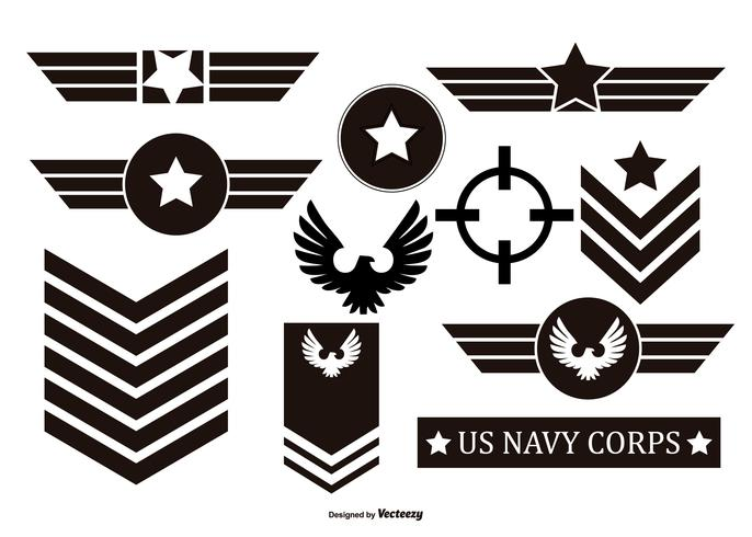 Millitary Vector Emblems Collection