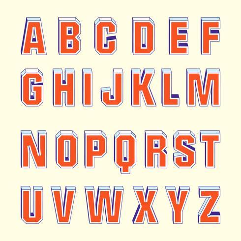 Download 3D Fonts Retro Vector - Download Free Vectors, Clipart ...