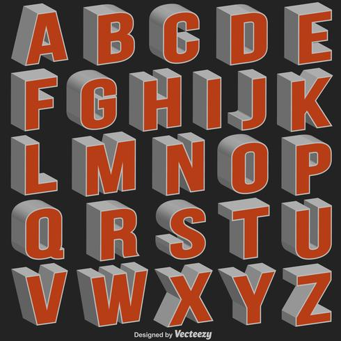 Download Vector 3d Font - Download Free Vectors, Clipart Graphics ...
