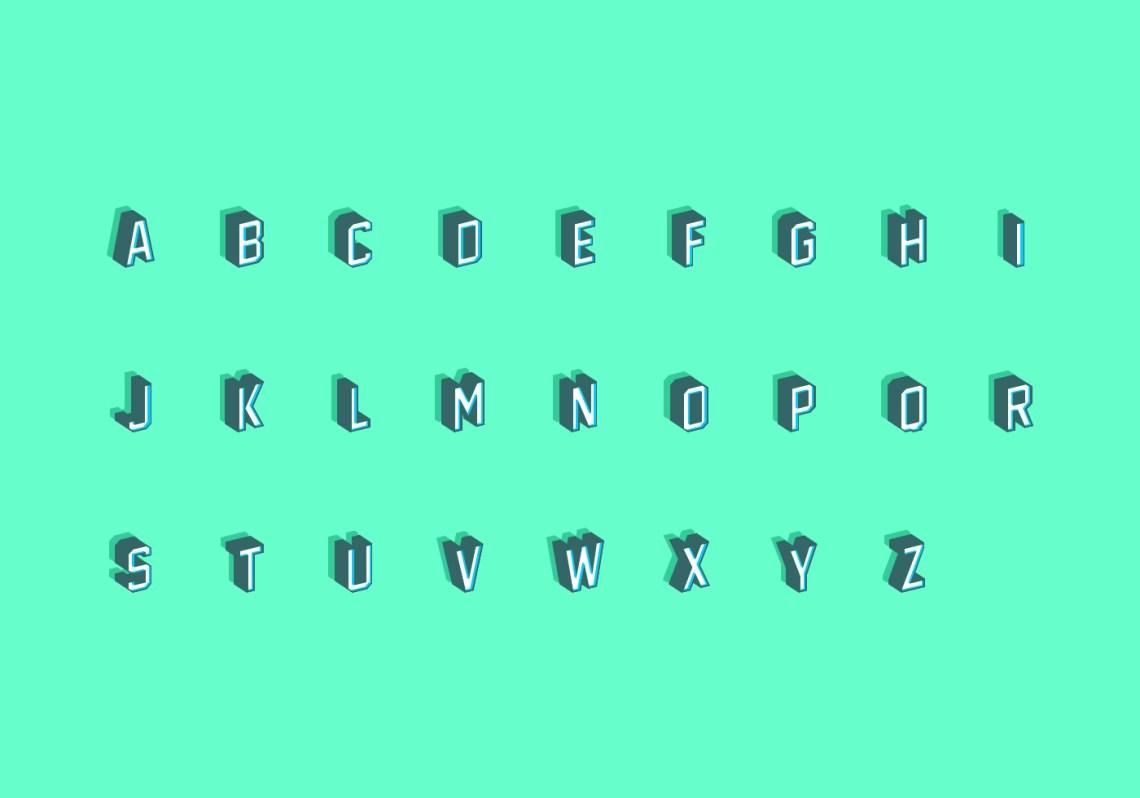Download 3D Isometric Fonts Free Vector - Download Free Vectors ...