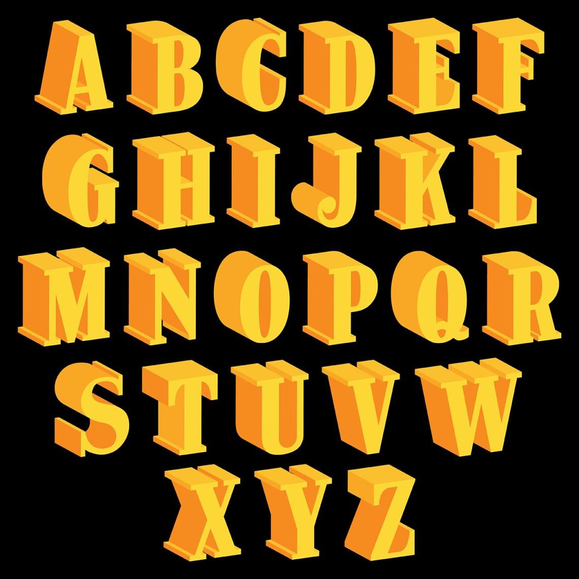 Download 3D Fonts Vector Icons - Download Free Vectors, Clipart ...