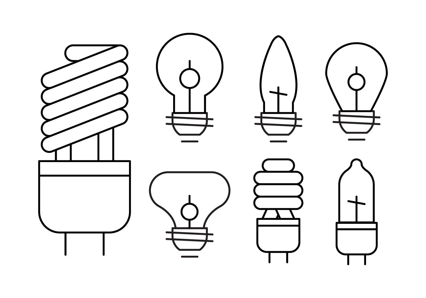 Linear Light Bulb Set
