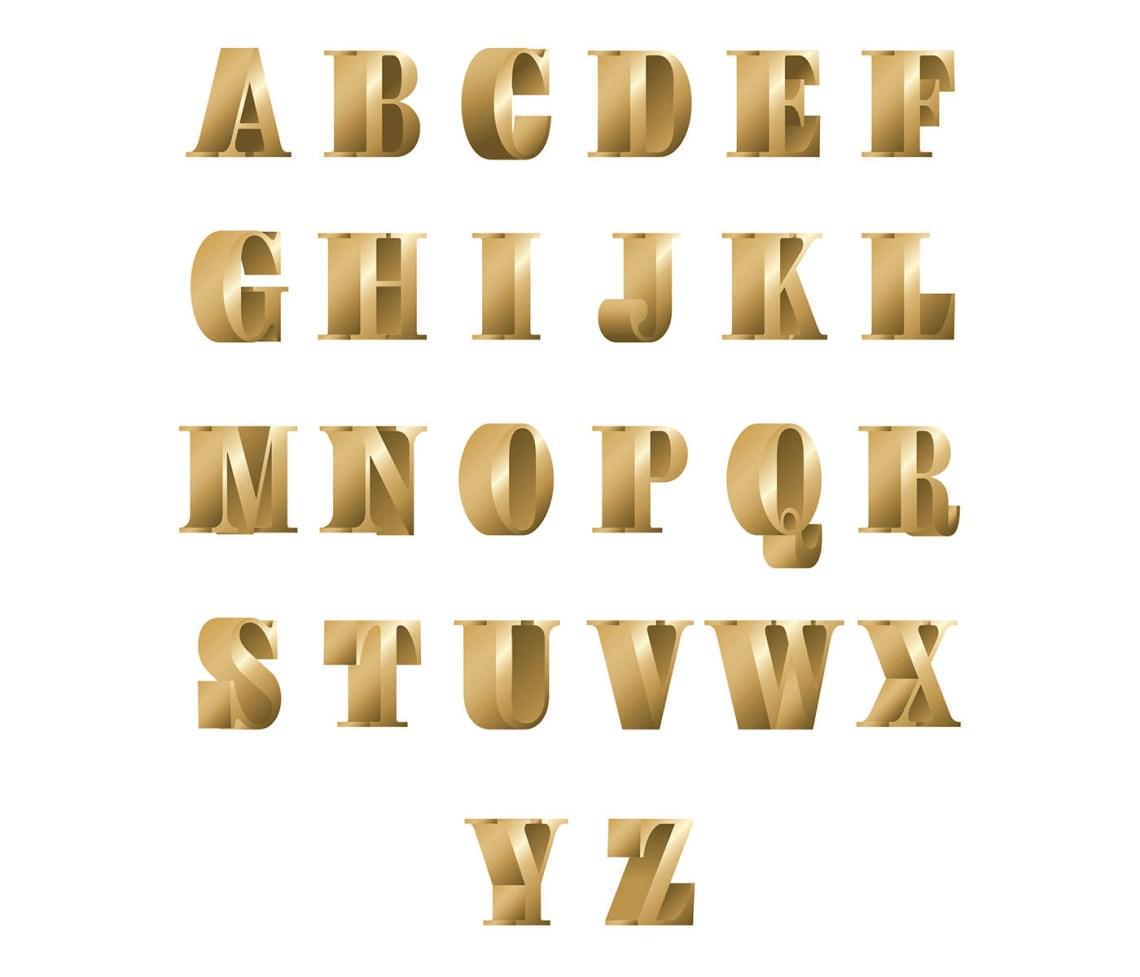 Download 3D Font Bronze Free Vector - Download Free Vectors ...