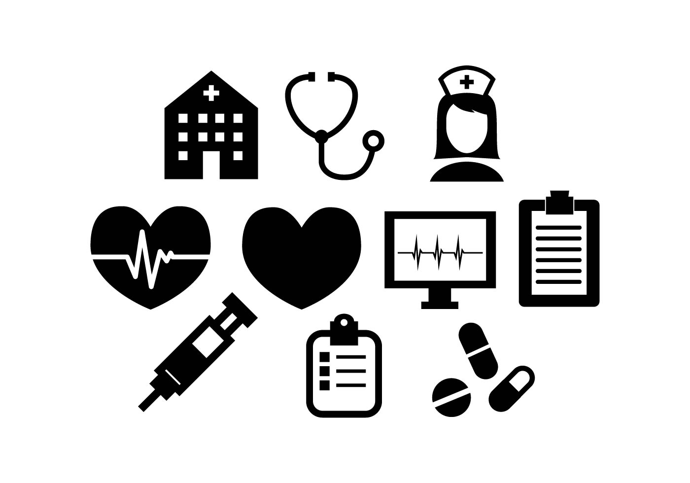 Medical Silhouette Free Vector Art