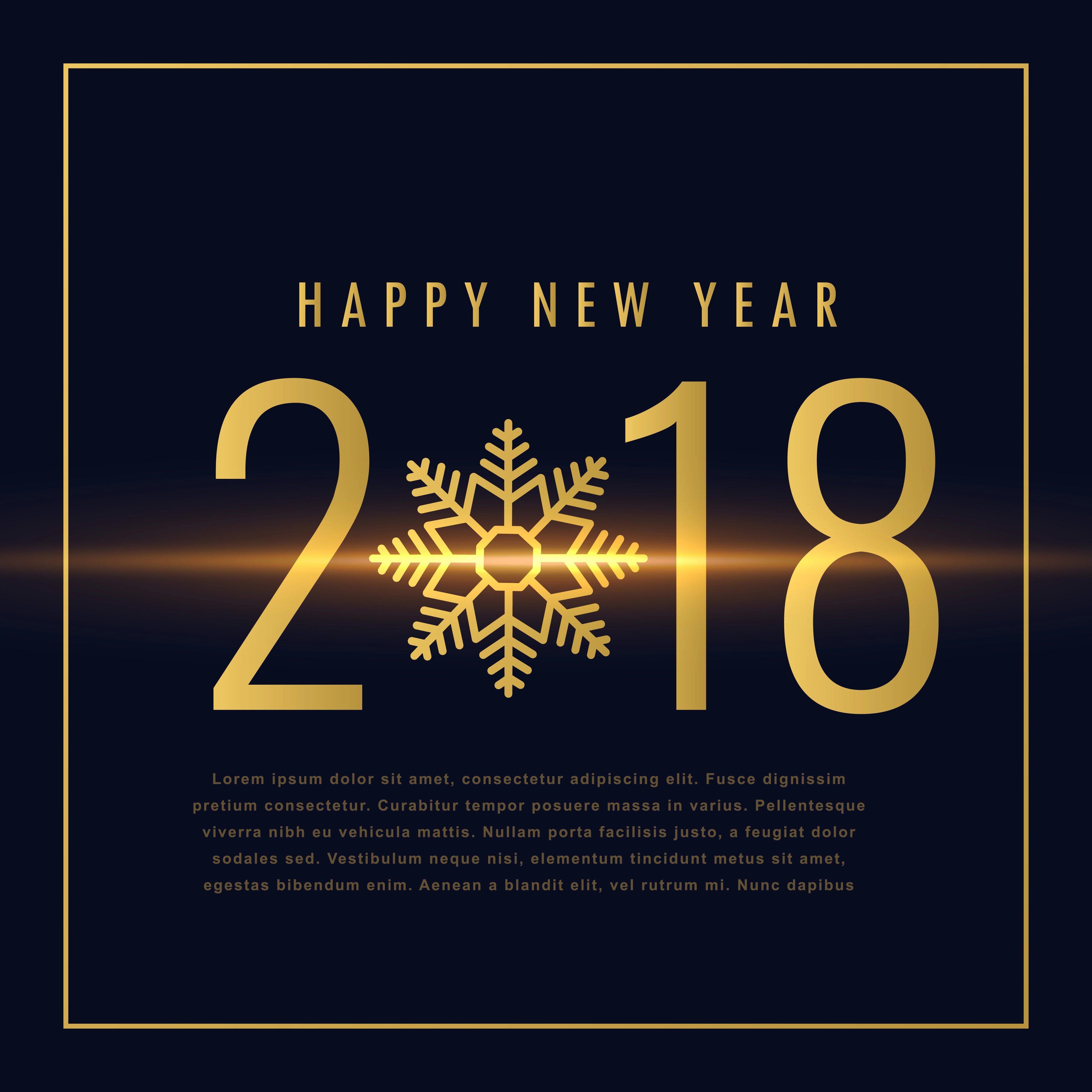 Happy New Year Text Written In Golden Style