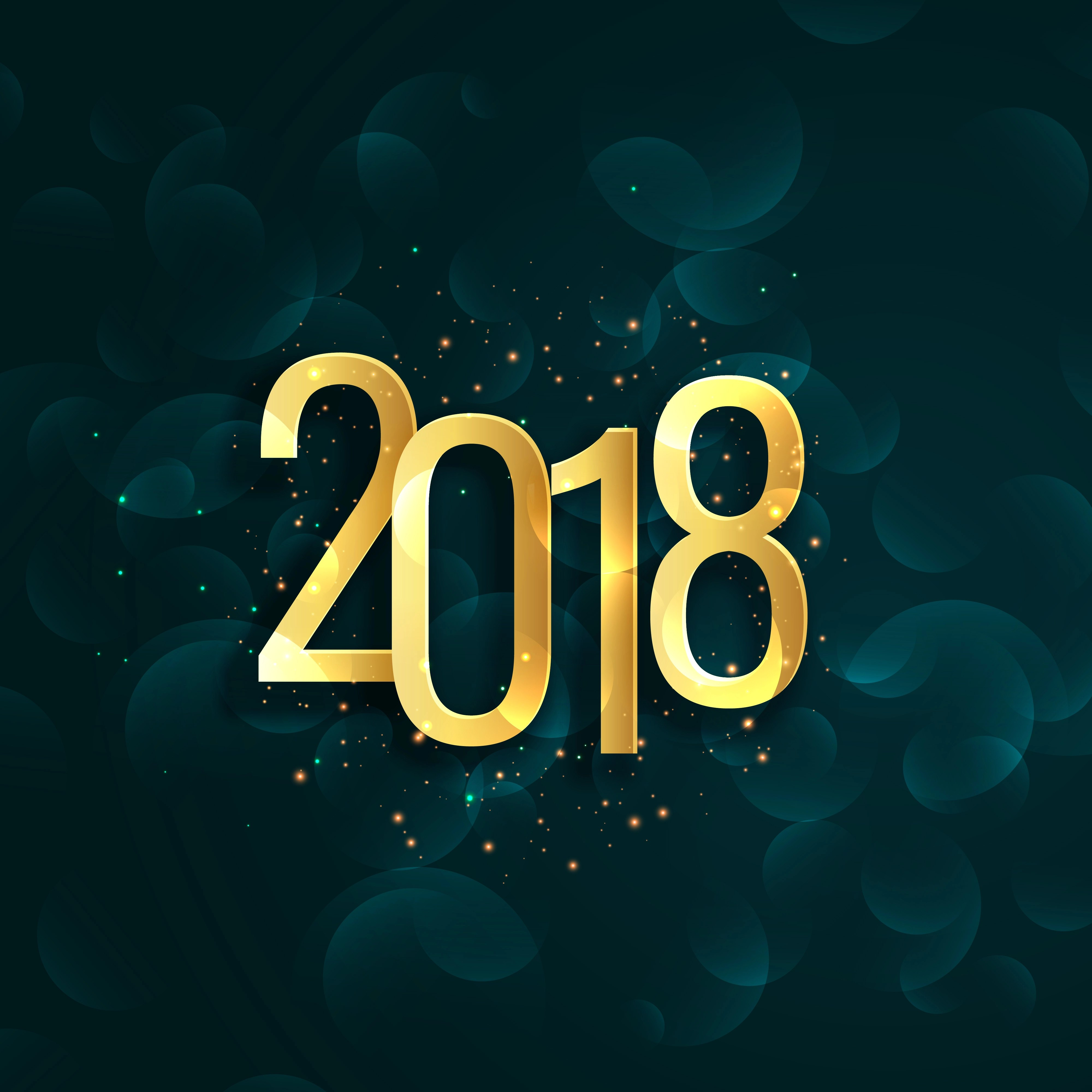 Happy New Year Background With Text Writtern In