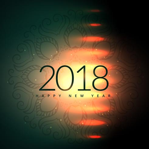 2018 Happy New Year Design With Light Effect Download