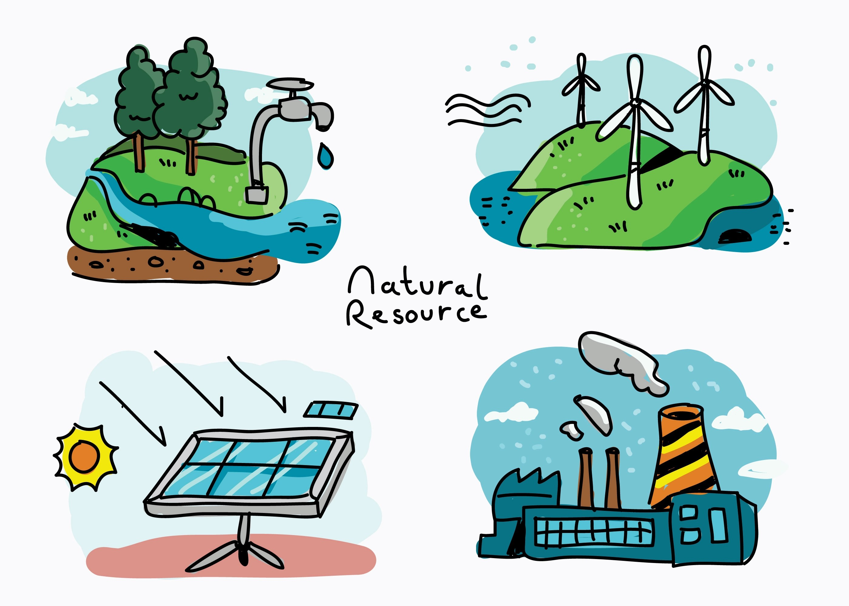 Natural Resource Hand Drawn Vector Illustration Download Free Vectors Clipart Graphics Vector Art