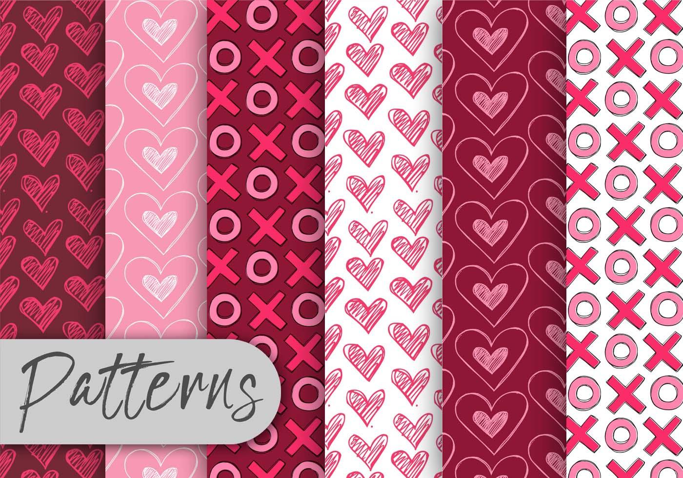 Valentine Pattern Set