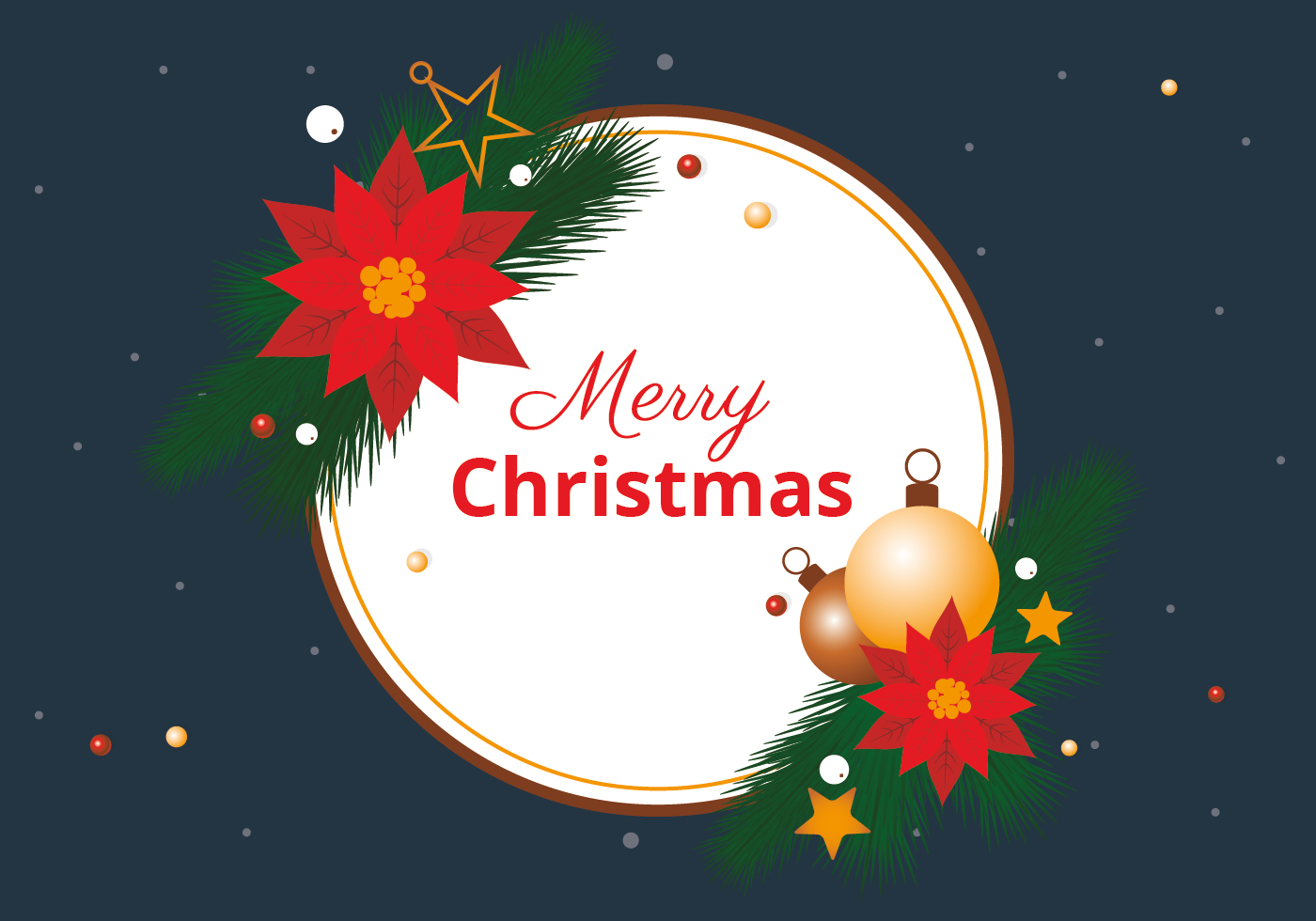 Free Christmas Elements Background Vector Download Free Vector Art Stock Graphics Amp Images