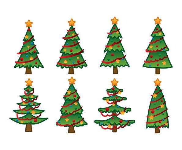 Cartoon Christmas Tree Hand Drawing Download Free Vector