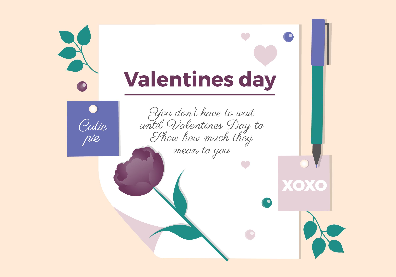 Valentine S Day Vector Letter Design