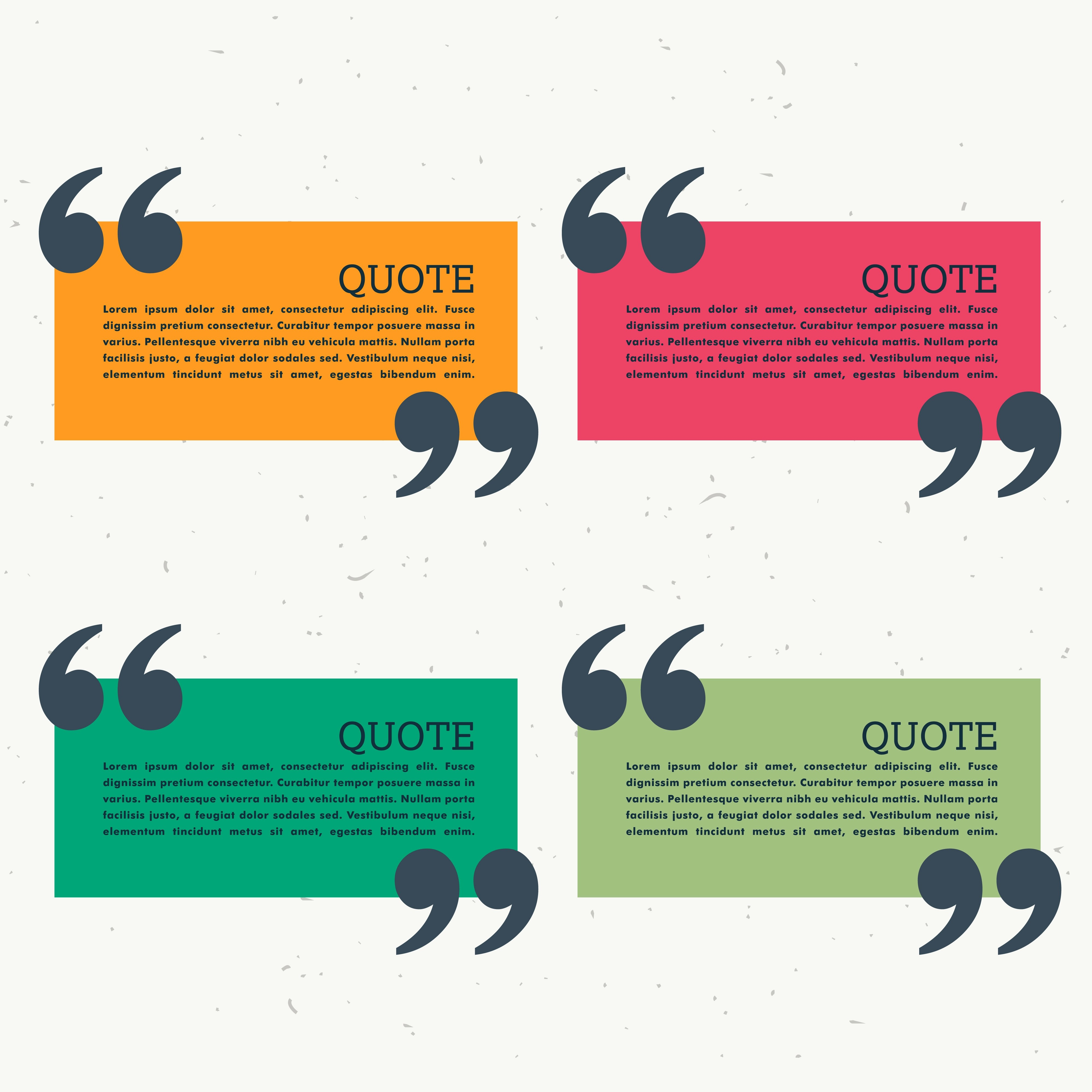 Colorful Set Of Four Quotation Marks
