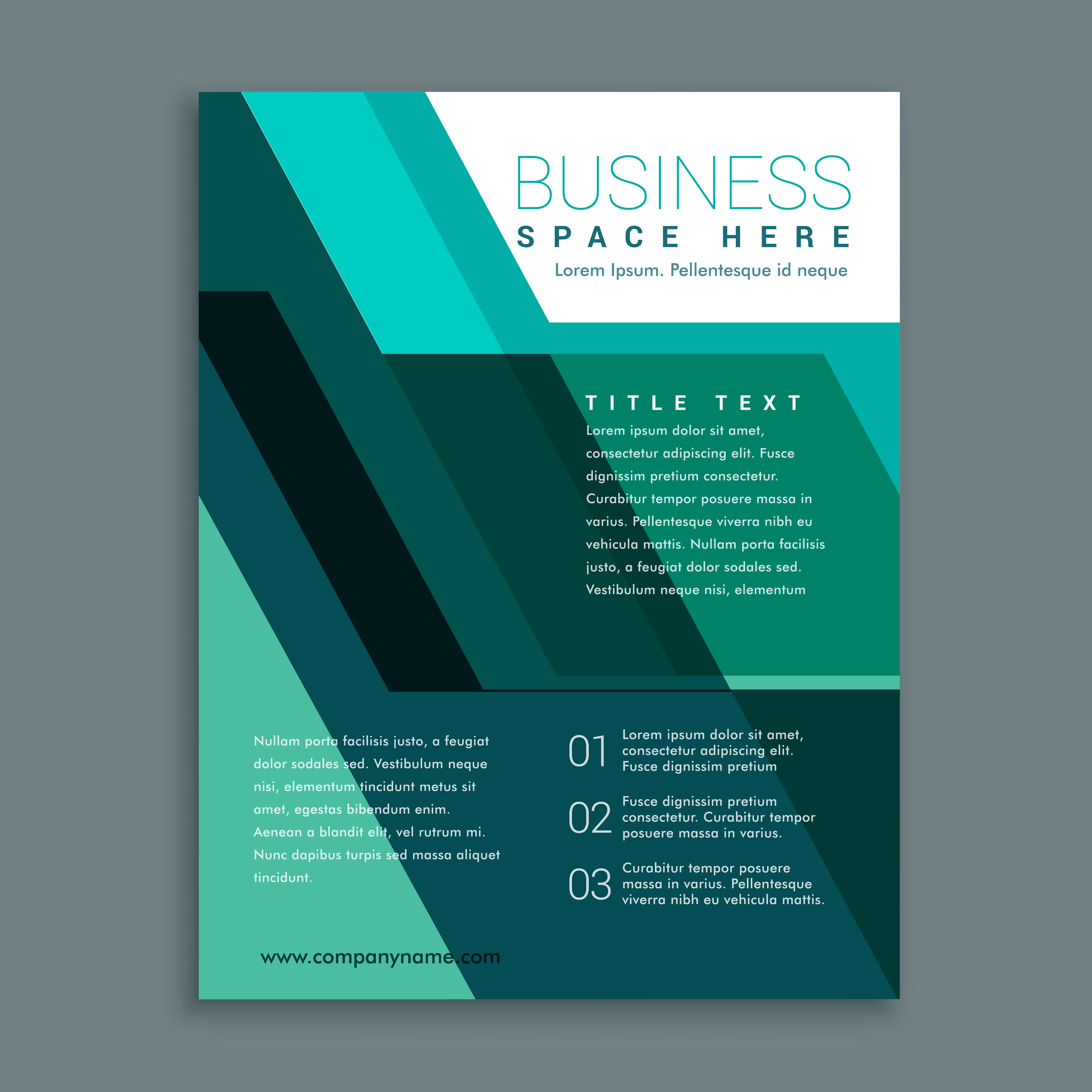 Geometric Business Brochure Design In Turquoise Color Download Free Vector Art Stock Graphics
