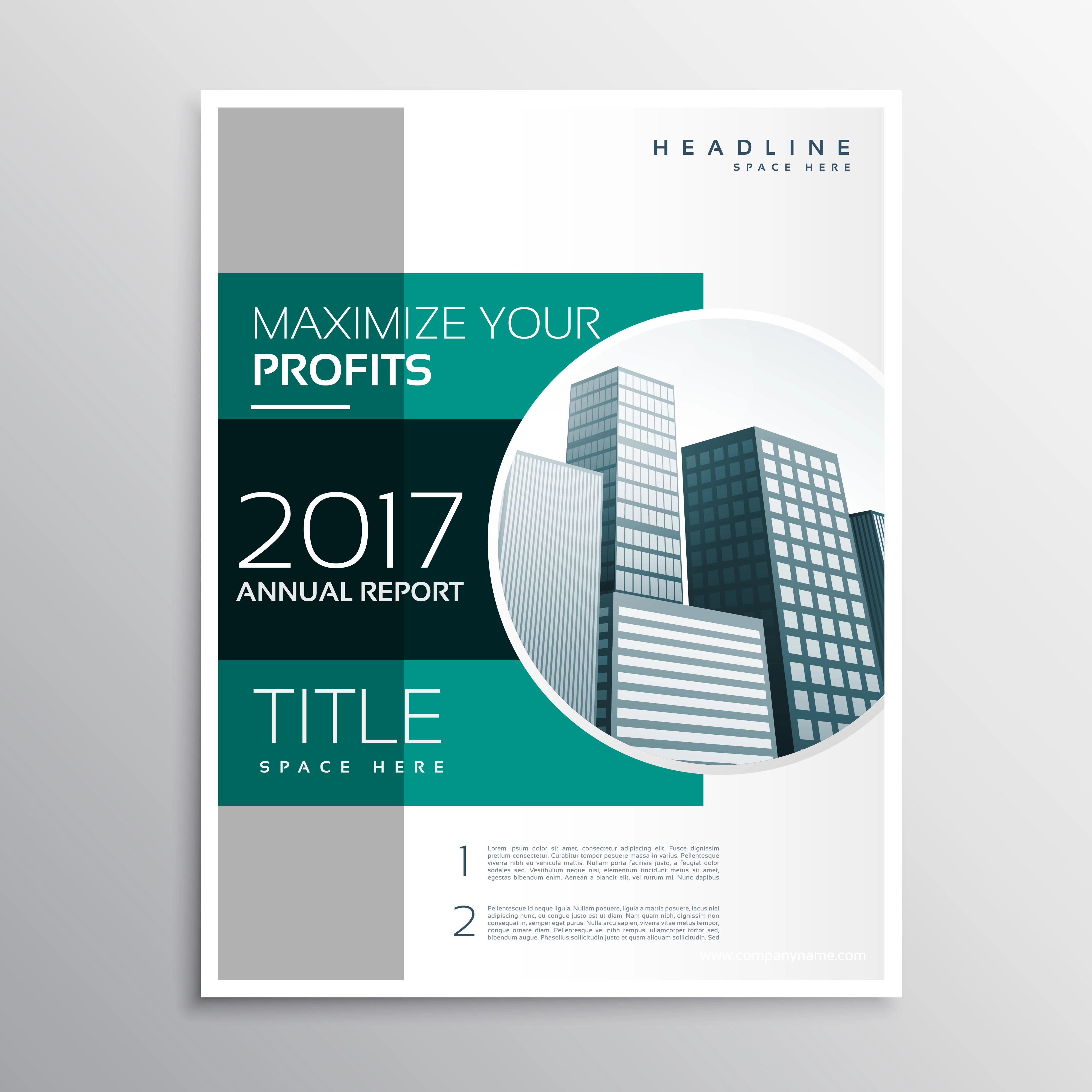 Company Annual Report Business Brochure Design Template Download Free Vector Art Stock