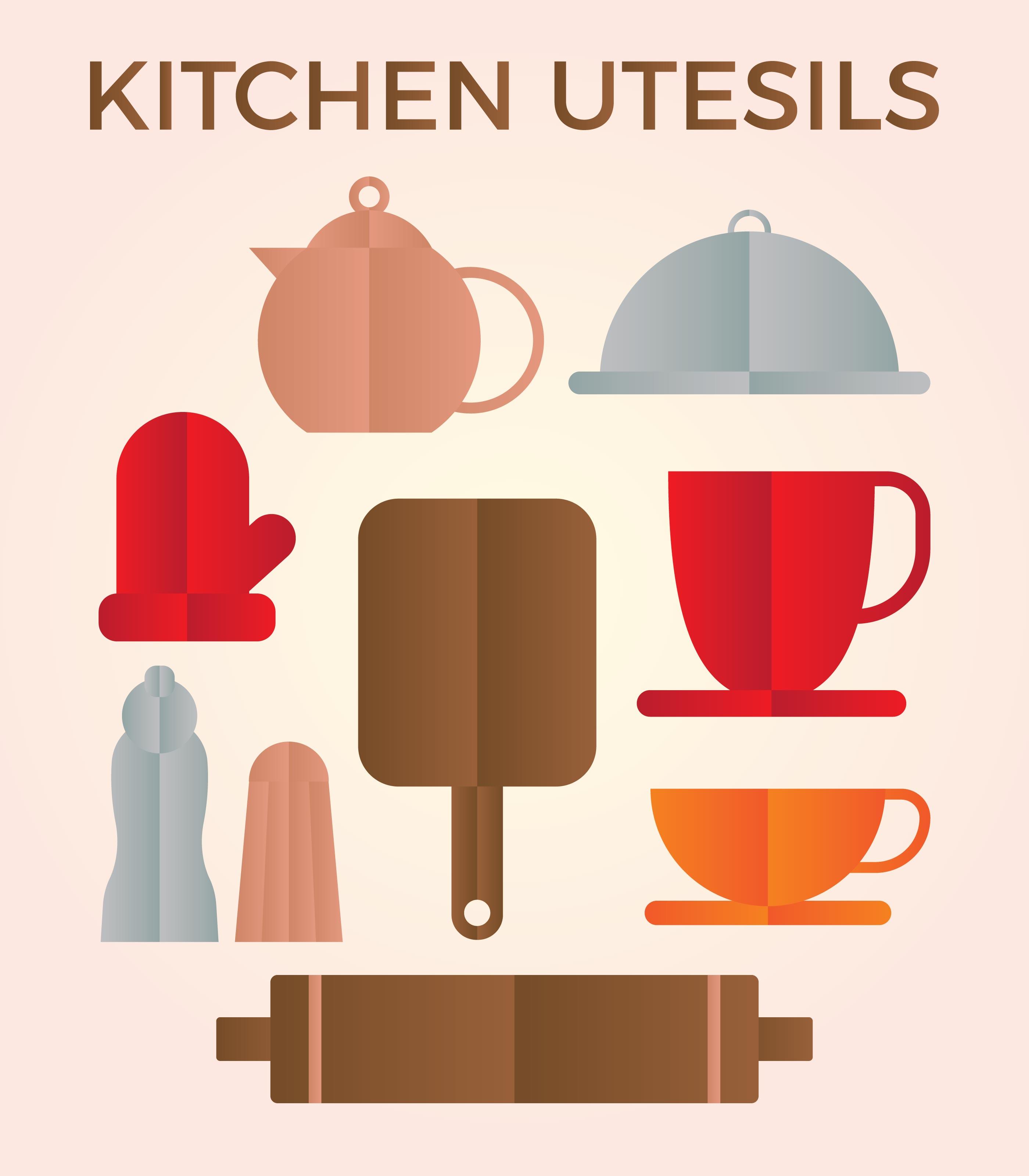 Kitchen Utensils Vector Download Free Vector Art Stock