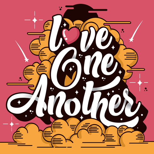 Download Love One Another Typography - Download Free Vectors ...