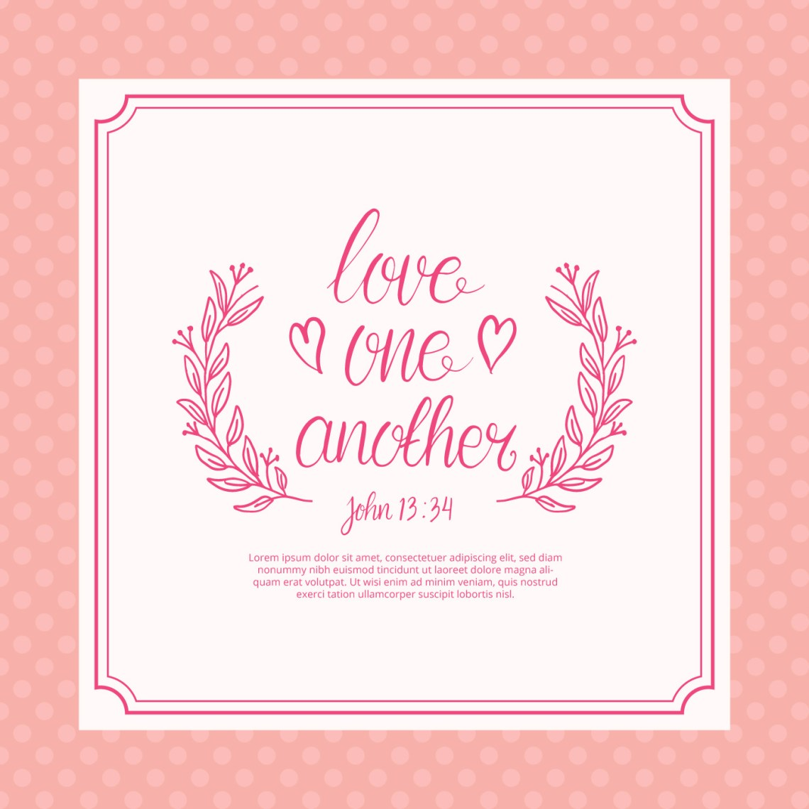 Download Free Love One Another Lettering Typography - Download Free ...