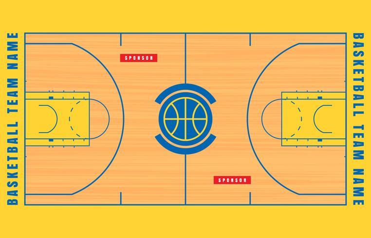 Basketball Court Floor Plan Illustration