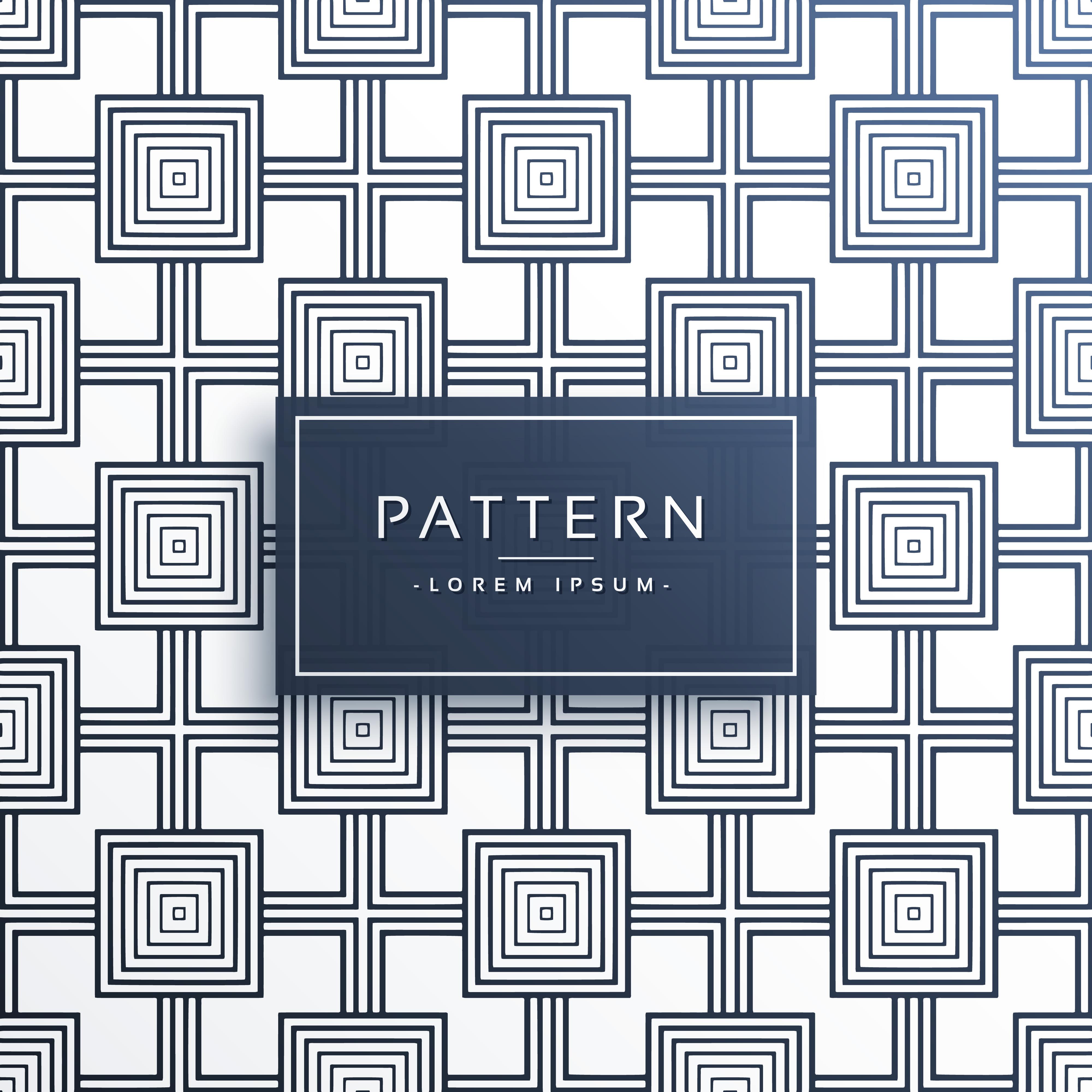 Geometric Square Style Modern Pattern Design