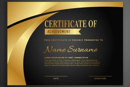 Certificate Template Free Vector Art    23948 Free Downloads  luxury dark certificate design template