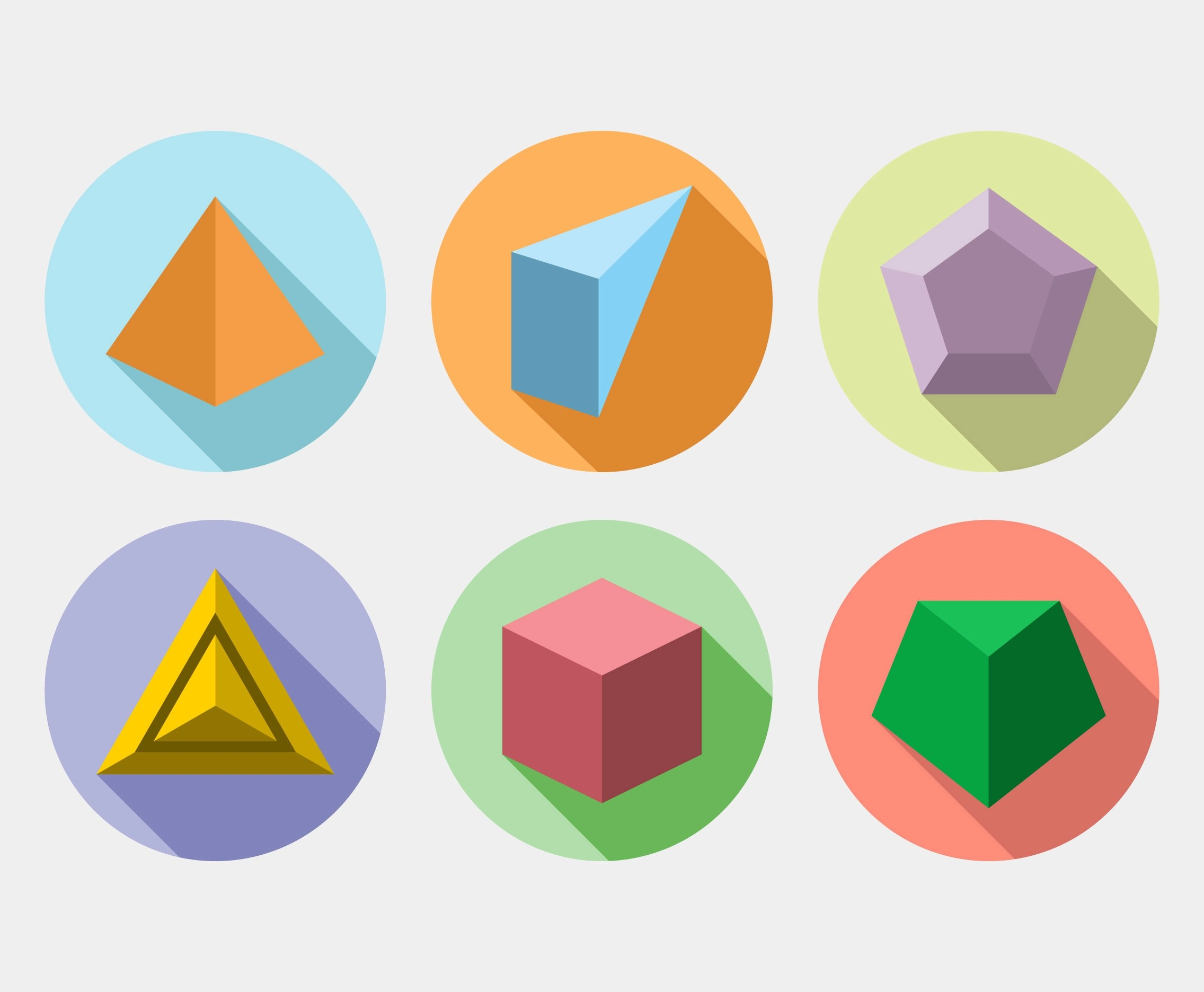 Solid Shapes Vector