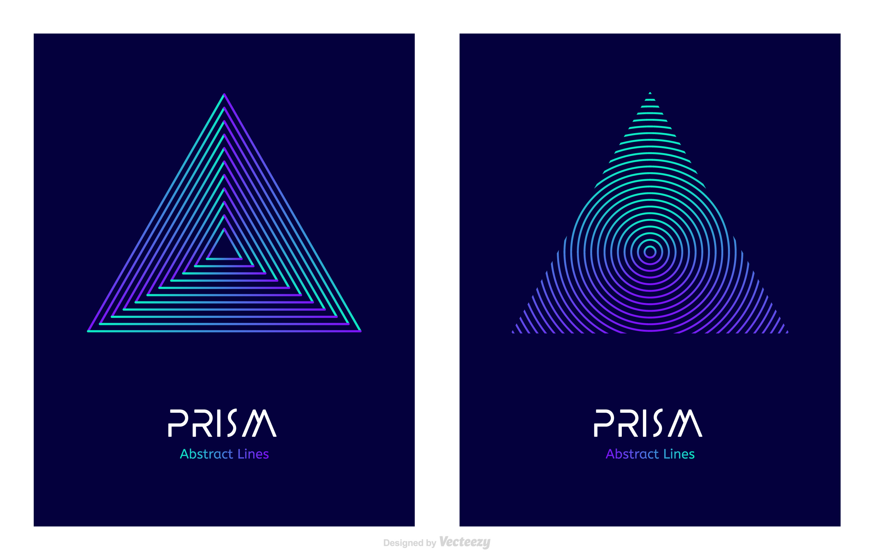 Abstract Line Design Prism Logo Vector Template