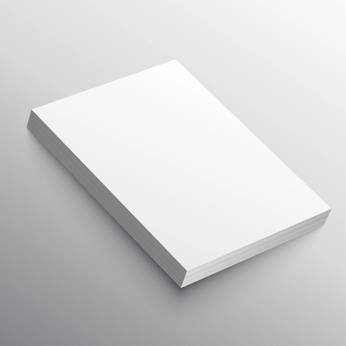 Download a4 paper stack mockup in 3d style - Download Free Vector ...