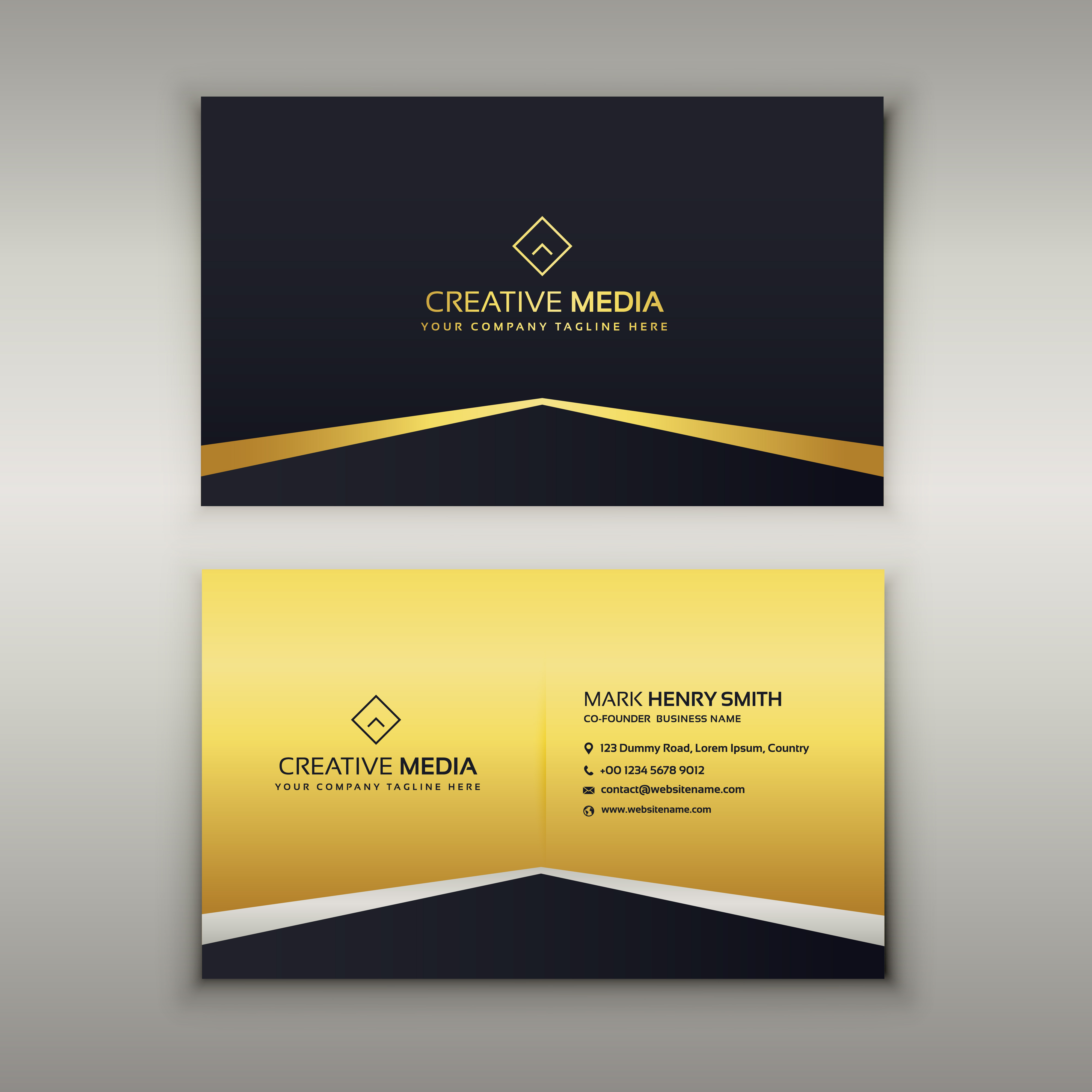 Luxury Business Card Design Template Download Free