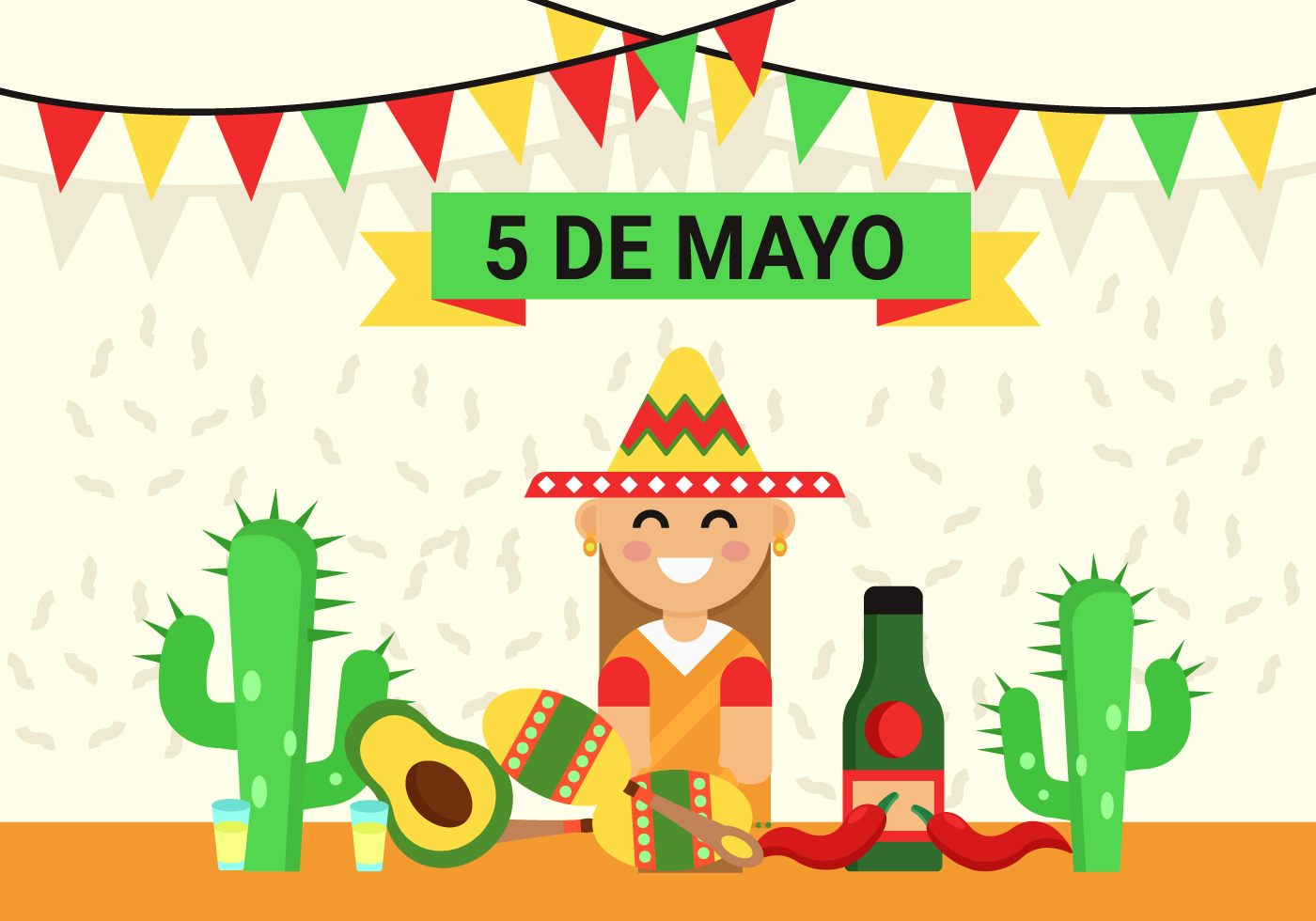 Cinco De Mayo Background Illustration