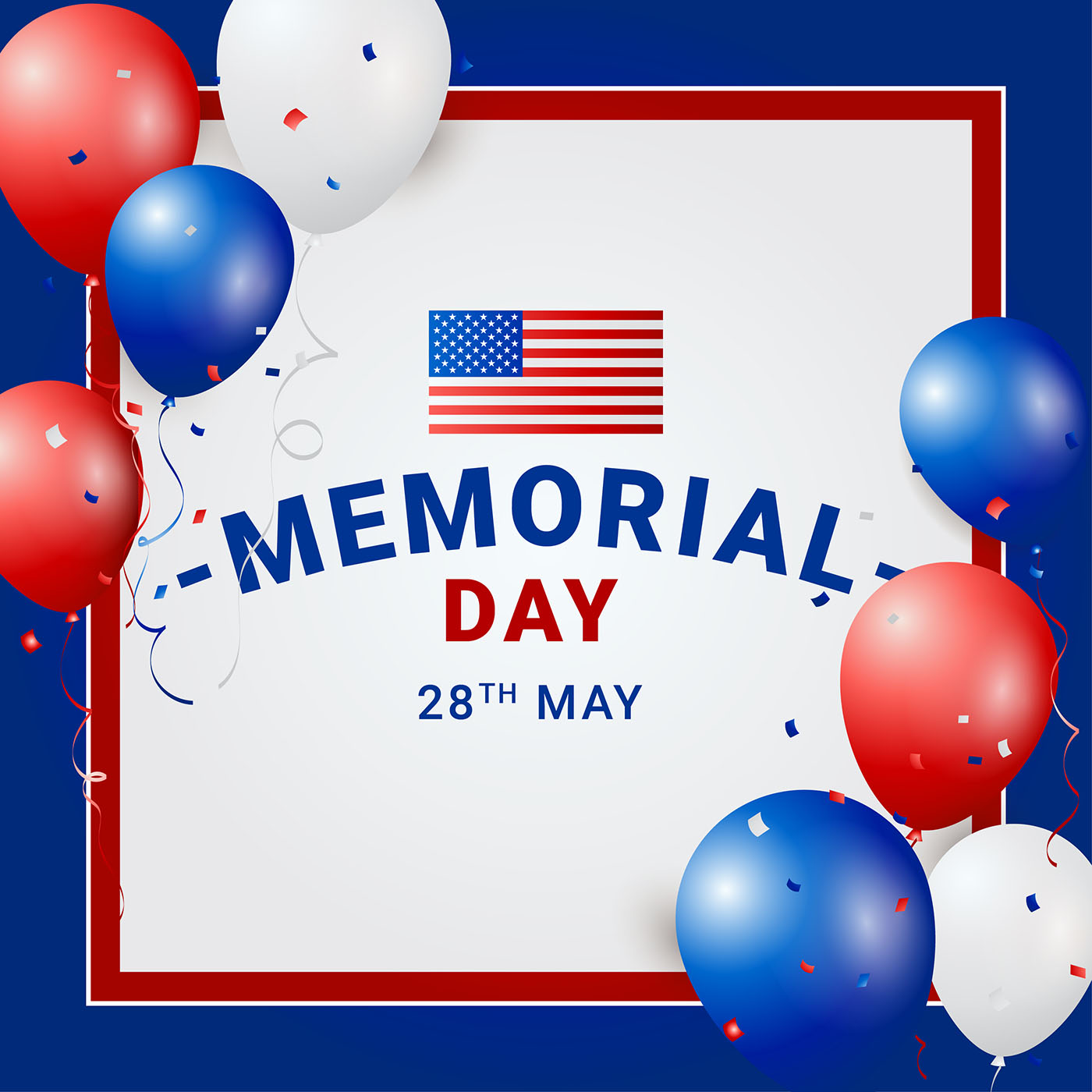 Memorial Day Template Vector
